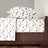Roostery Smuk 4pc Sheet Set Giraffe Moose Love + Kids by Smuk Queen Sheet Set made with