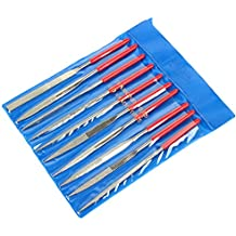 Fatmingo Diamond Needle File Set, Hand file for Metal Glass Jewelry Rough Carving 80Grit 5 x 180 x 70mm (Pack of 10)