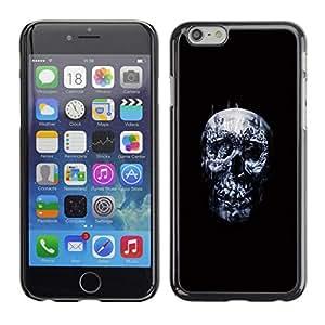 // PHONE CASE GIFT // Duro Estuche protector PC Cáscara Plástico Carcasa Funda Hard Protective Case for iPhone 6 / Cráneo oscuro /