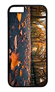 MOKSHOP Adorable autumn park leaves Hard Case Protective Shell Cell Phone Cover For Apple Iphone 6 (4.7 Inch) - PC Black