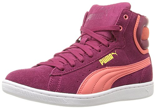 Puma Femmes Vikky Mi Sfoam Mode Sneaker Rouge Prune / Porcelaine Rouge