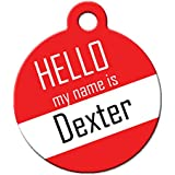 "Cute Dog Cat Pet ID Tag - ""Hello My Name Is"" - Personalize Colors And Your Pet Info"