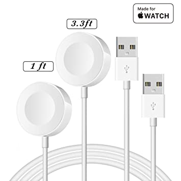 IQIYI 2Pack(0.3m+1m) [Apple MFi Certificado] Cargador para Apple Watch/iWatch 38mm,40mm,42mm,44mm Series 1/2/3/4