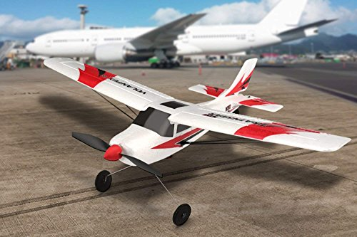 FUNTECH RC Airplane RTF (Ready to Fly), 3 Channel Remote Control Airplane RC Plane Drone with 2.4GHz Radio Control 6 Axis Gyro, Durable EPP Foam Easy to Fly for Beginners ()