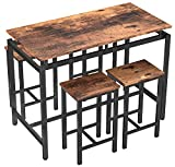MIERES 5 Pieces Kitchen Table Set, Wood Dining