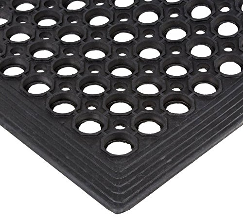 Crown Safewalk-Light Rubber Anti-Fatigue Drainage Mat, for Wet or Dry Areas, 36