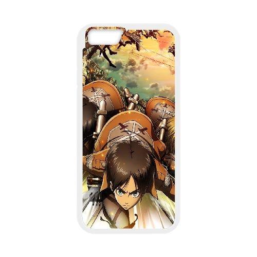Attack On Titan 33 coque iPhone 6 Plus 5.5 Inch Housse Blanc téléphone portable couverture de cas coque EBDOBCKCO13738