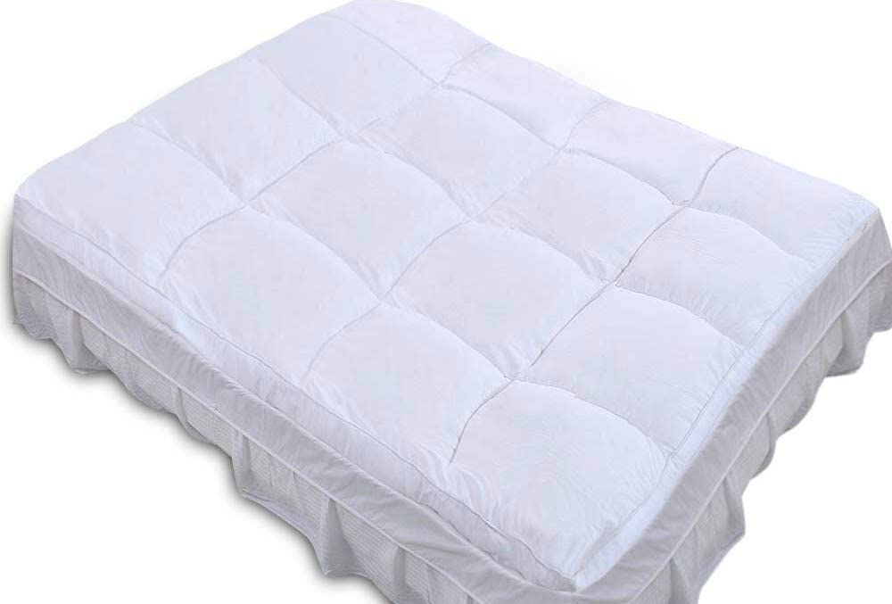 QUEEN ROSE Full Mattress Topper, Plush Pillow Top Mattress Pad,Hotel Quality,Down Alternative,Soft and Firm,3 H