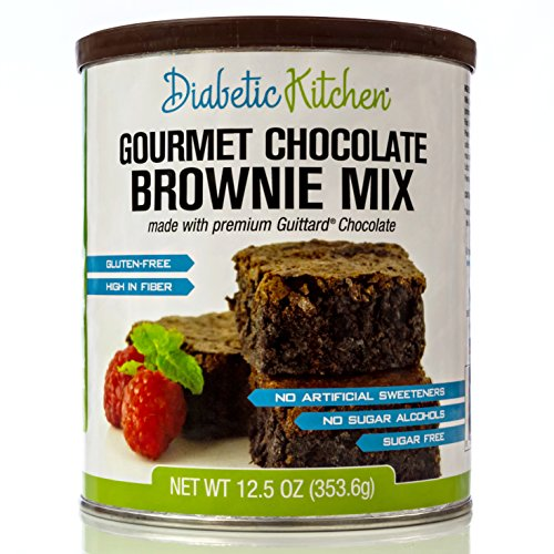 Diabetic Kitchen Gourmet Chocolate Brownie Mix Makes The Moistest, Fudgiest Brownies Ever Gluten-Free, High-Fiber, Low-Carb, No Artificial Sweeteners or Sugar Alcohols (12.5 OZ)