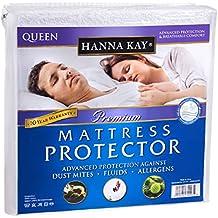 Queen Size Hanna Kay Premium Hypoallergenic Waterproof Mattress Protector - Vinyl Free