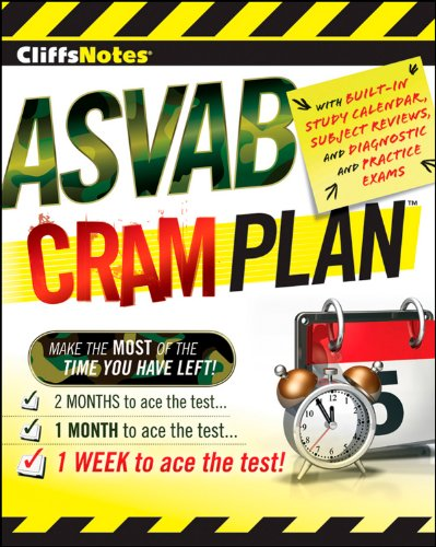 CliffsNotes ASVAB Cram Plan (Cliffsnotes Cram Plan) (Auto And Shop Information Asvab Study Guide)