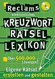 Reclams Kreuzwort Rätsel Lexikon. CD-ROM für Windows 98/SE/ME/NT 4/2000,XP. Eigene Rätsel erstellen und gestalten.