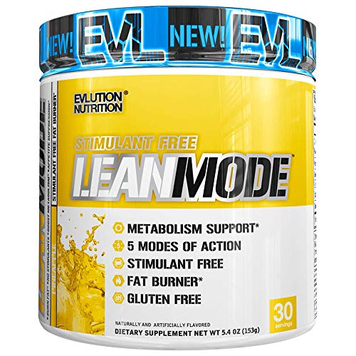 Evlution Nutrition Lean Mode Stimulant-Free Weight Loss Supplement with Garcinia Cambogia, CLA and Green Tea Leaf Extract, 30 Serving (Pineapple)