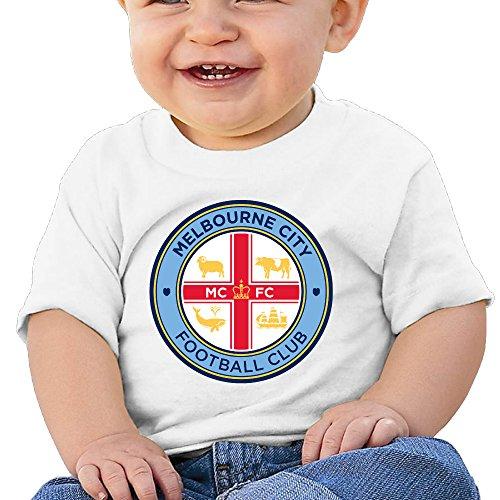 (Boss-Seller MELBOURNE CITY FOOTBALL CLUB Short Sleeve Tee For 6-24 Months Infant Size 6 M White)