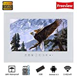 "Soulaca 27"" Framless White Waterpoof TV Android Support LAN WiFi T270FA-W"