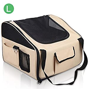 iPET Pet Carrier Dog Cat Car Booster Seat Soft Crate Portable Travel Bag Large Click on image for further info.