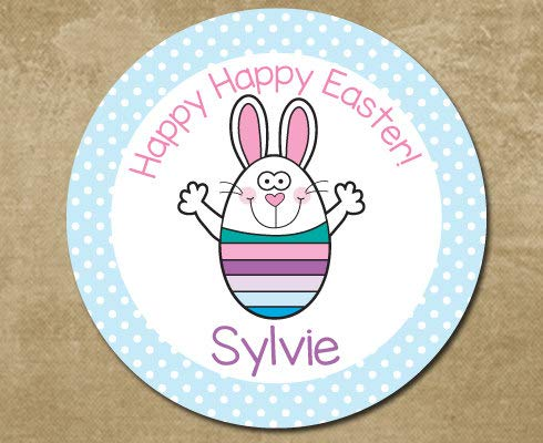 (Easter Melamine Plate Easter Bunny Plate for Kids Easter Bunny Custom Personalized Melamine Plastic Plate Easter Gift White Rabbit)