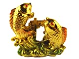 Feng Shui Chinese Carps Jump Over the Dragon Gate ( with a Betterdecor Gift Bag)