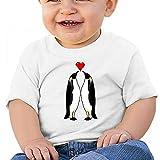 Sabina Harriman Unisex-Adult Baby Particular Penguin Couple Summer Short Sleeve Tees