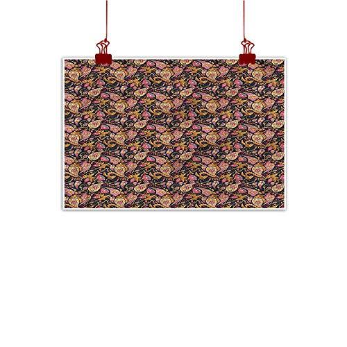 (Mangooly Fabric Cloth Rolled Jacobean,Iranian Curlicues Swirls 36