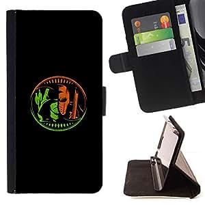 Momo Phone Case / Flip Funda de Cuero Case Cover - Superhéroe Negro minimalista del cartel - LG G3