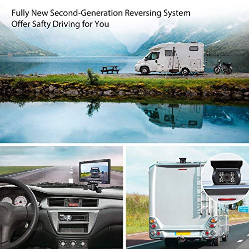 Backup-Camera-and-Car-7-Inch-Monitor-Screen-Waterproof-Rear-View-Rearview-Backing-Parking-Reversing-Reverse-Camera-for-TruckTrailerPickupsRV-When-Reversing-Parking-to-Avoid-Blind-Area-eRapta-ER01