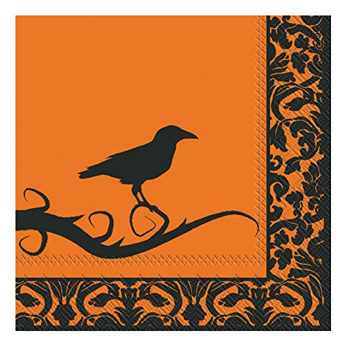 Ideal Home Range 20 Count Lunch Napkins, Raven