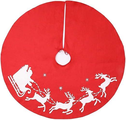 LPxdywlk Falda De árbol De Navidad 1m Impresión Redonda De Alces ...