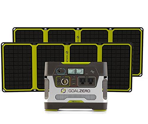 Goal-Zero-Yeti-400-Solar-Generator-with-2-Nomad-28-Plus-Solar-Panels