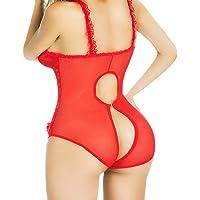 Whitegeese Mujer Encaje Sexy Lencería Ropa De Dormir Ropa Interior Bebé-Muñeca Ropa Nocturna-G-String