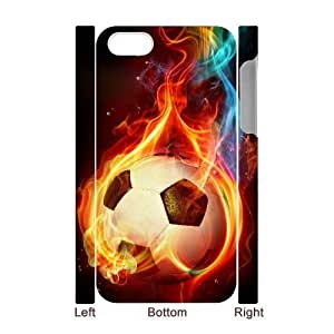 linJUN FENGLZHCASE Diy 3D Protection Hard Case Football For iphone 5/5s [Pattern-1]