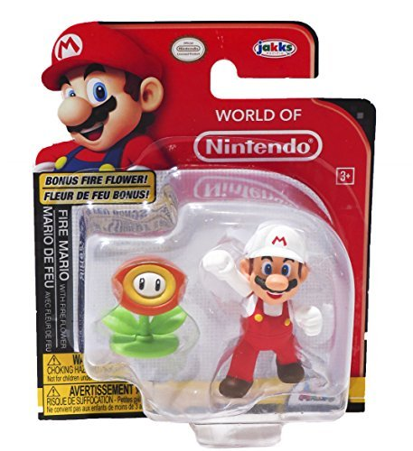 (Nintendo World of Fire Mario 2.5 inch Figure with Fire)