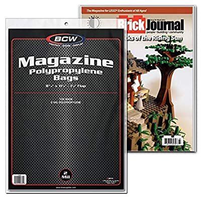 "BCW Crystal Clear 2-mil Polypropylene Magazine Bags 8-3/4"" X 11-1/8"" with 1-1/2"" Flap. (100-Count): Toys & Games"