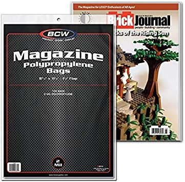 100 New BCW Magazine Bags And Boards Archival Magazine Storage Acid Free