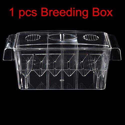 Big Size Acrylic Aquarium Floating Breeding Box 4 Rooms Double Layers Multifunction Breeding Isolation Box For Guppy Betta AT002   1 pcs single Box, one size