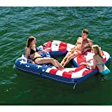 Intex 57264VM Inflatable American Flag 2 Person Party Island Lake Pool Float