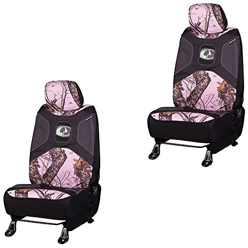 Mossy-Oak-Infinity-Pink-Camo-Print-Car-Truck-SUV-Universal-Fit-Seat-Airbag-Compatible-Low-Back-Bucket-Seat-Covers-with-Head-Rest-Covers-PAIR