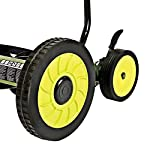 Sun Joe Manual Reel Mower 10 Steel frame and blades 18 inch wide cutting path 9-position height control