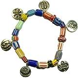 Symbology Silver Plated Adrinka Multi Stretch Bead Bracelet