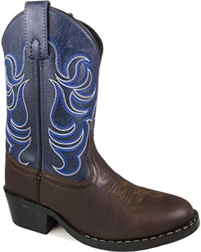 Smoky Mountain Boys' Monterey Western Boot Round Toe Brown 11 D Childrens Round Toe Boot