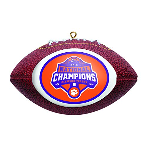 (Boelter Brands Clemson Tigers 2018-2019 CFP National Champions Football Christmas Tree Ornament)