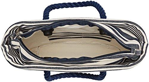 O bag B002_017, Borsa a Mano Donna, Multicolore (Blu Navy), 11x31x40 cm (W x H x L)