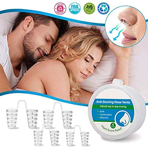 Anti Snoring Nose Vents, Anti Snoring Devices, Nasal Dilators for Snoring, Nose Vents Snore Stopper Stop Snoring Solution Sleep Aid for Comfortable Natural Sleep Breathing Snore Relief Men Women (Best Anti Snoring Strips)
