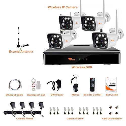 Corsee 4ch Wireless Security Camera System 960p Hd