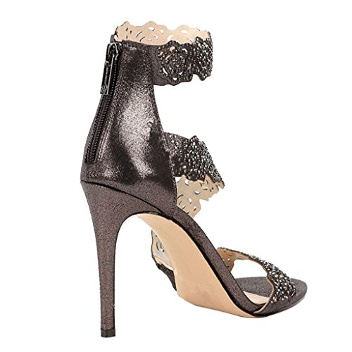 High Sandals Fine Heels Gray Park With Women's Girl's Heel Lace High Elegant 4q1d1aw7