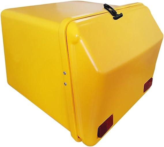 Portaequipajes Moto baúl Reparto Amarillo/Amarillo con Reflectantes homologados: Amazon.es: Coche y moto