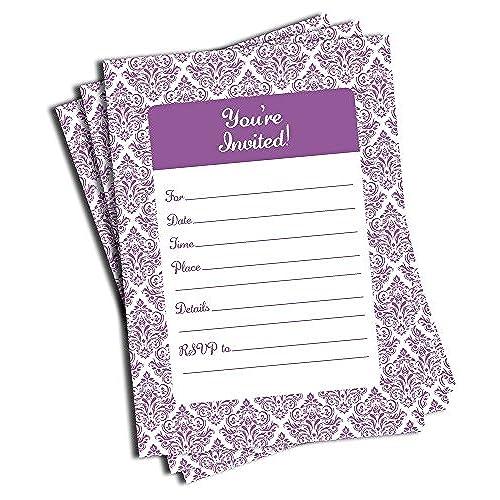 purple invitations amazon com