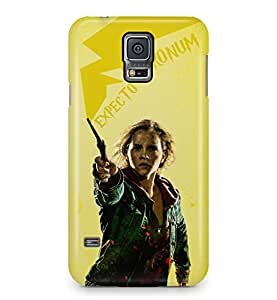 Harry Potter Hermione Granger Expecto Patronum Wand Hard Plastic Phone Case Cover For Samsung Galaxy S5