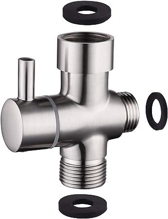 Bathroom Toilet 3-way T-Connector Hot//Cold Mixer Valve Brass For HandHeld Bidet