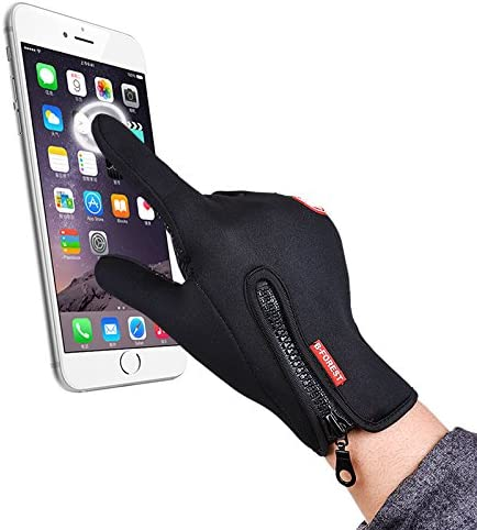 Tuopuda Guanti Invernali Sportiva Touchscreen Guanti per Uomo e Donna Guanti Caldi Termici Esterni per Moto Antivento Bicicletta Caccia Arrampicata Sportiva Guanti